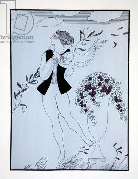 Les Sylphides, from the series 'Designs on the dances of Vaslav Nijinsky' (1889-1950). Georges Barbier (1882-1932), Pochoir Print