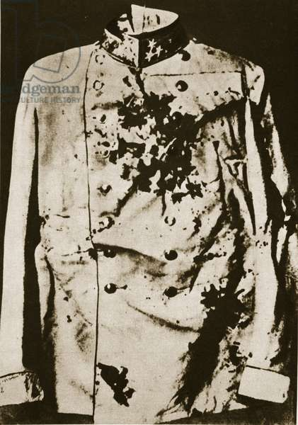 Tunic of the murdered Archduke, c.1914-18 (sepia photo)