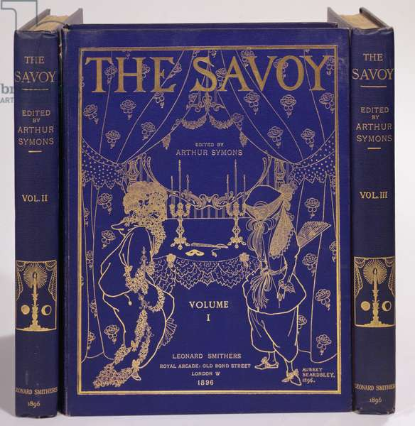 Cover design for 'The Savoy', Volumes I-III, edited by Arthur Symons, published by Leonard Smithers 1896
