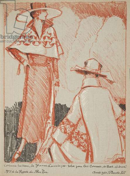 Jeanne Lanvin et etc from a Collection of Fashion Plates, 1921 (pochoir print)