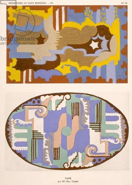 Carpet designs, from 'Repertoire of Modern Taste', published 1929 (colour litho)