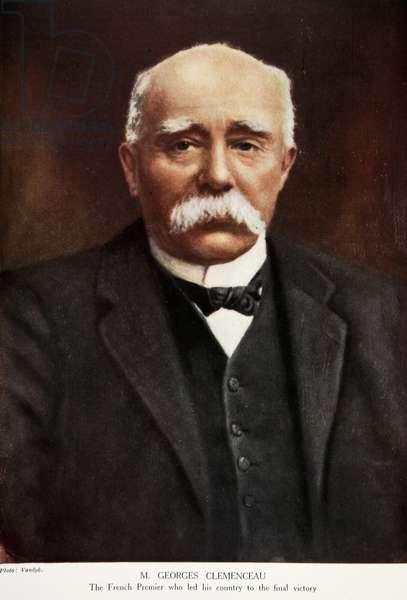 M. Georges Clemenceau, 1914-19 (colour litho)