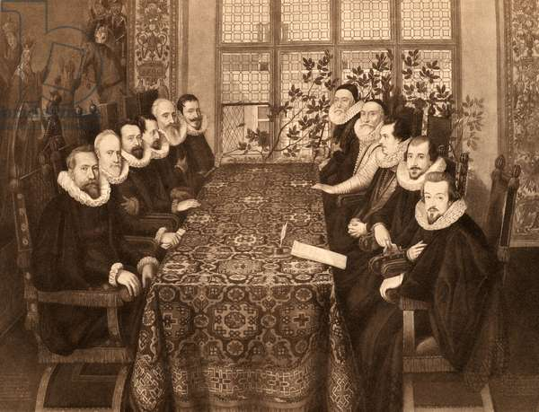 Conference of 18th August, 1604, from 'James I and VI', printed by Manzi Joyant & Co. Paris, 1904 (collotype)