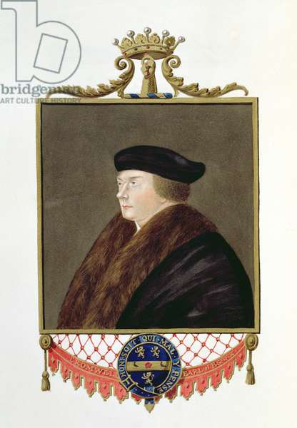 Portrait of Thomas Cromwell (c.1485-1540) Ist Earl of Essex from 'Memoirs of the Court of Queen Elizabeth', published in 1825 (w/c and gouache on paper)