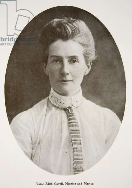Nurse Edith Cavell, from 'The Year 1915: a Record of Notable Achievements and Events', 1915 (b/w photo)