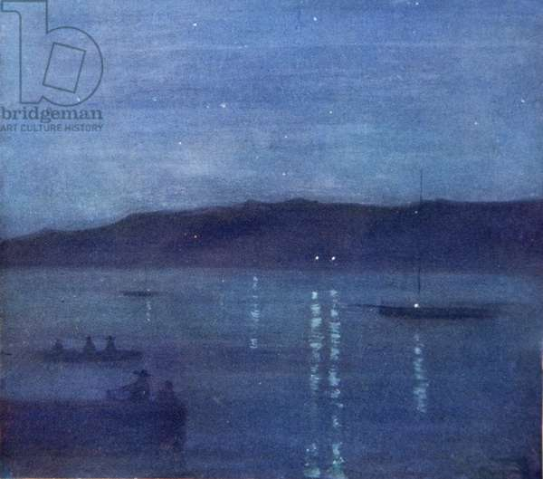 Night, Anotta Bay, Jamaica, from a portfolio of privately printed watercolours of 'The West Indies'