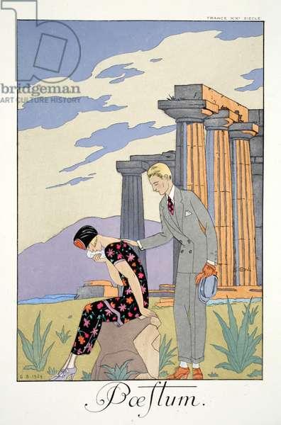 Paestum, from 'Falbalas & Fanfreluches, Almanach des Modes Présentes, Passées et Futures', 1925 (colour litho)