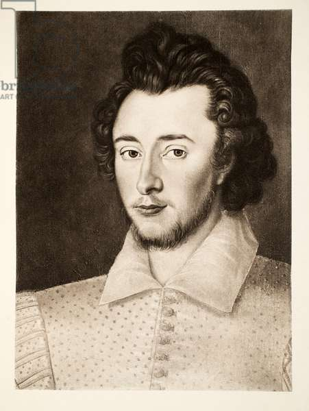 Sir Thomas Overbury, from 'James I and VI', printed by Manzi Joyant & Co. Paris, 1904 (collotype)
