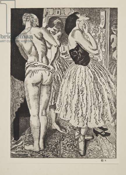 Three Graces of the Ballet, published 1927 (soft ground etching)