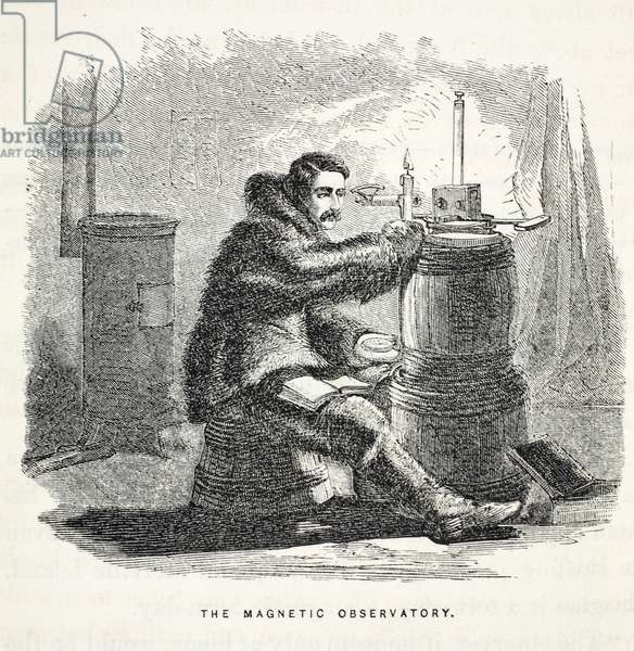 The Magnetic Observatory, illustration from 'The second Grinnell Expedition in Search of Sir John Franklin...', 1856 (engraving)