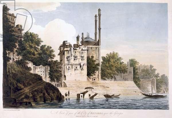 Benares on the Ganges, 1787 (aquatint)
