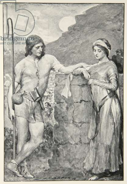 Olaf and Sigrid, from 'Hero Myths and Legends of the British Race' by M.I. Ebbutt, 1910 (litho)