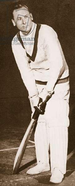 Jack Hobbs, 1925 (sepia photo)