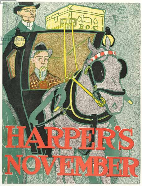 Harpers New Monthly Magazine, November 1896 (colour litho)
