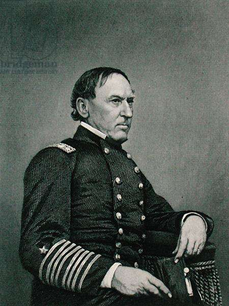 David Glasgow Farragut (1801-70), engraved after a photograph by William G. Jackman (fl.c.1840-60) (engraving)