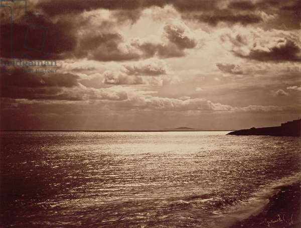 An Effect of the Sun, Normandy c.1857 (sepia photo)