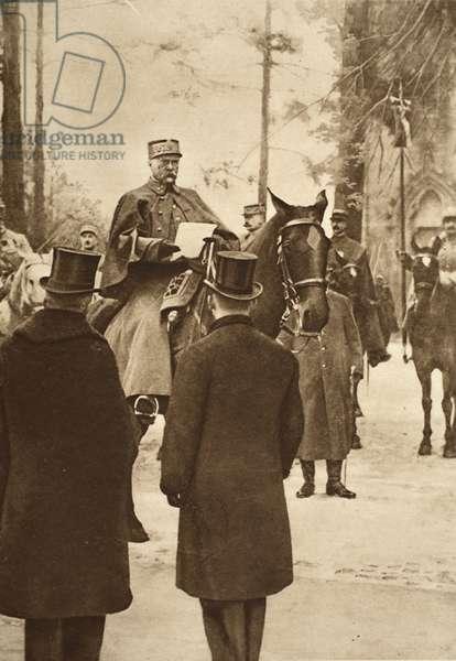 General Hirschauer, taking possession of Keht bridge-head, January 30th 1919 (b/w photo)