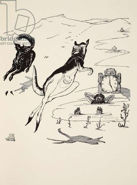 Old Man Kangaroo at five in the afternoon, illustration from 'Just So Stories for Little Children' by Rudyard Kipling, pub. London, 1951 (litho)