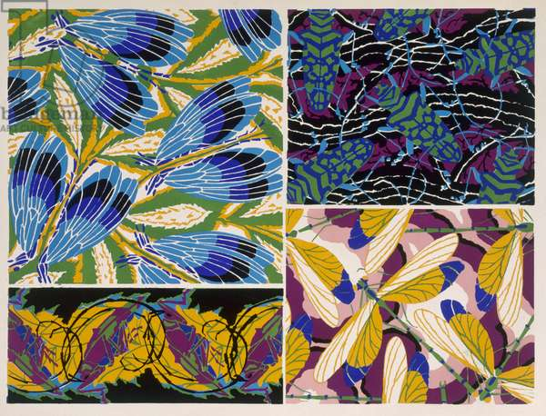 Design with insect motif, 1930s (colour litho)