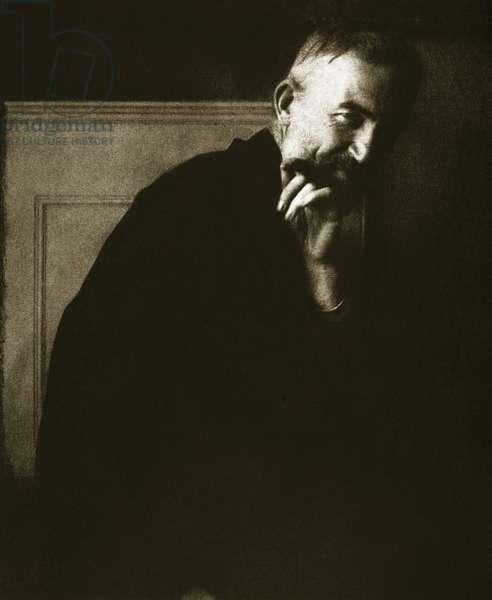 George Bernard Shaw (sepia photo)
