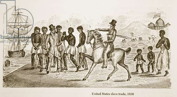 United States Slave Trade, 1830 (engraving)