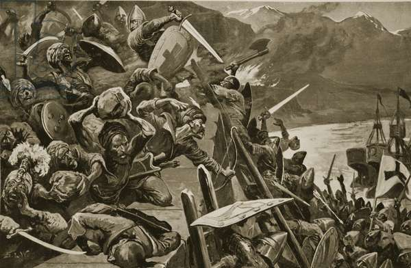 Crusaders storming Nicaea (litho)