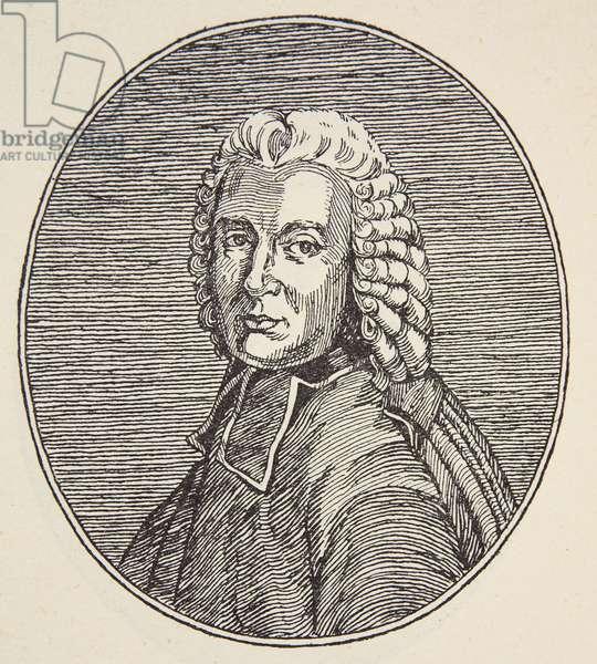 L'Abbe de Lacaille, copy by Boris Mestchersky (d.1957) illustration from 'Histoire de la Nation Francaise', Sciences, Volumes I & II, by Gabriel Hanotaux (1853-1944), 1924 (litho)