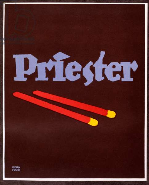 Advertisement for Priester Matches, printed in Berlin, 1927 (colour litho)