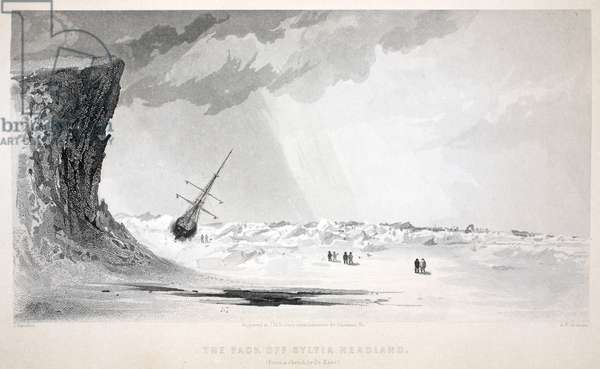 The Pack off Sylvia Headland, illustration from 'The second Grinnell Expedition in Search of Sir John Franklin...', 1856 (engraving)