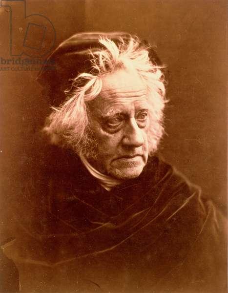 Sir John Frederick William Herschel, 1867 (b/w photo)