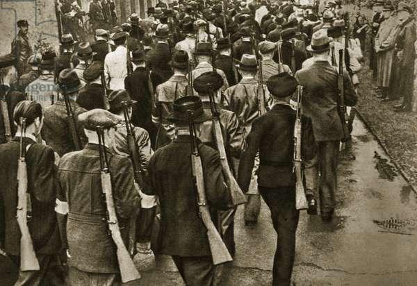 The SA trains the Volkssturm, October 1944 (b/w photo)
