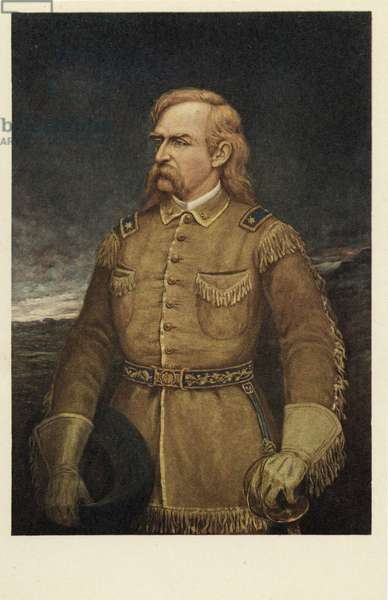George Armstrong Custer (1839 - 1876), (colour lithograph)