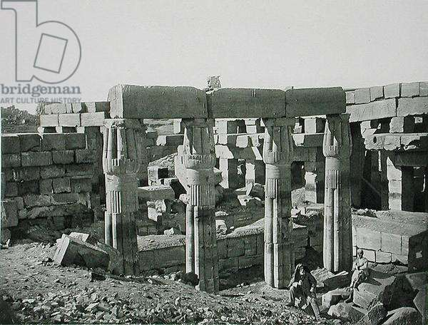 Ruins at Karnak, Thebes, published c.1900 (photogravure)