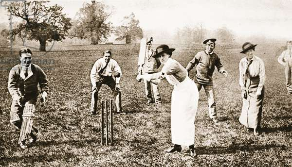 Nurses v. patients at the Isleworth Military Hospital: A Nurse at the Wickets, from 'The Illustrated War News' (b/w photo)