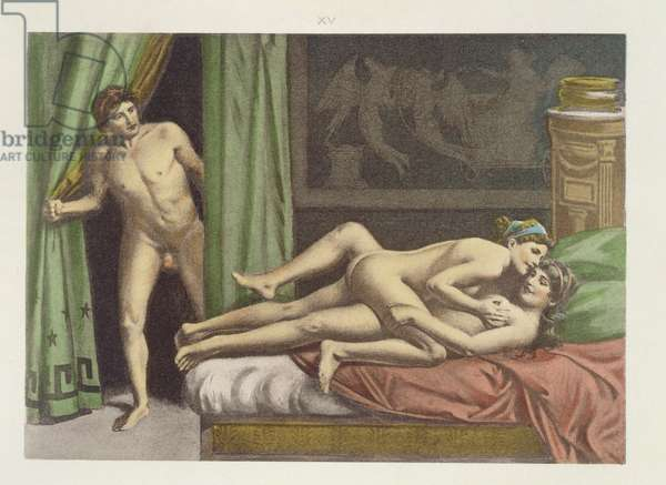 Ancient Times, plate XV from 'De Figuris Veneris' by F.K Forberg, engraved by the artist, 1900 (litho)