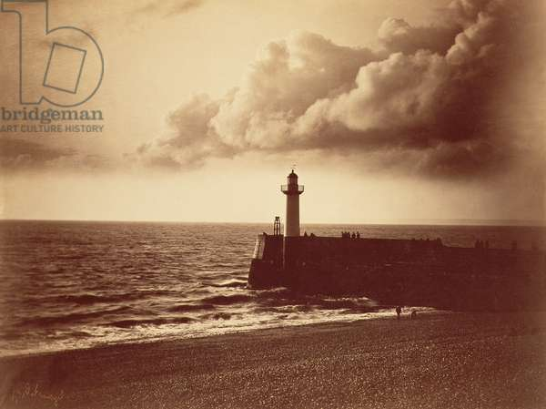 Breakwater at Sete, c.1855 (albumen print from a collodion-on-glass negative)