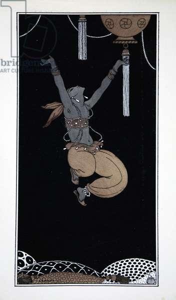 Scheherazade, from the series 'Designs on the dances of Vaslav Nijinsky' (1889-1950). Georges Barbier (1882-1932), Pochoir Print