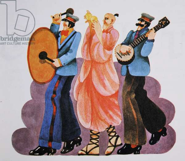 Musicians, from 'Carnaby Street' by Tom Salter, 1970 (colour litho)
