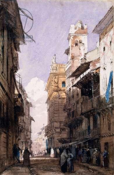 Corso Saint Anastasia, Verona (w/c on paper)