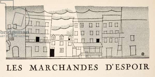 Les Marchandes d'Espoir, from Gazette de Bon Ton, pub.  1920 (pochoir print)