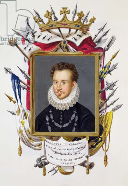 Portrait of Charles IX of France (1550-74) from 'Memoirs of the Court of Queen Elizabeth', published in 1825 (w/c and gouache on paper)