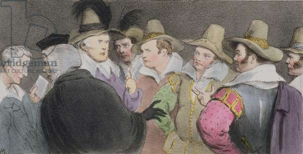 Conspiracy to Blow up the Parliament, (HB Sketches No. 189), published 1832 (colour litho)