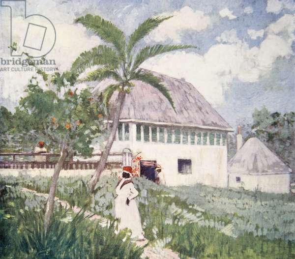 A House near the Bog Walk, Jamaica, from a portfolio of privately printed watercolours of 'The West Indies' (colour litho)