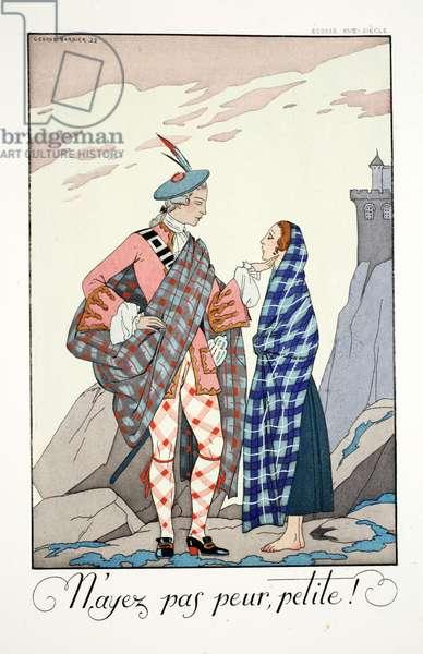 Do Not Be Afraid, Little One!, from 'Falbalas & Fanfreluches, Almanach des Modes Présentes, Passées et Futures', 1923 (colour litho)