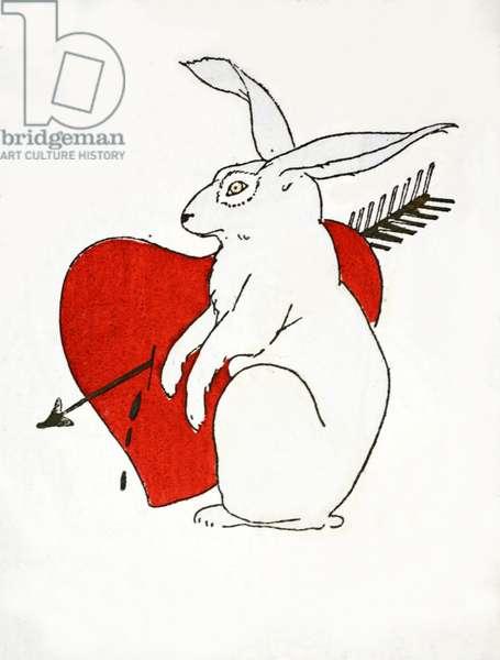 Love Bunny (pochoir print)