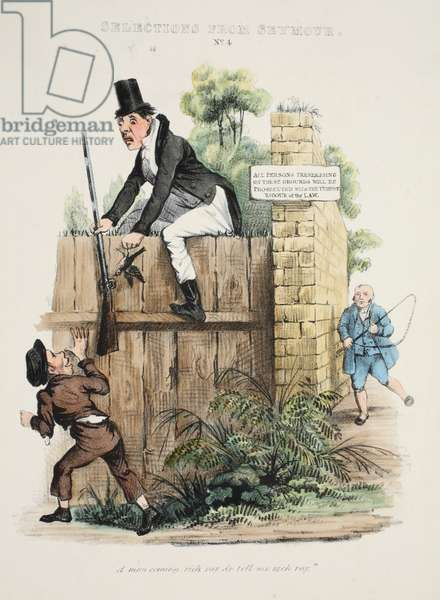 Selections from Seymour: No. 4, 'A man coming rich vay do tell me vich vay.'  , pub c. 1840 (hand coloured engraving)