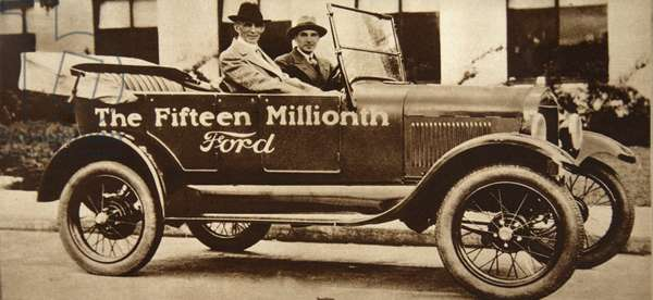 The Fifteen Millionth Ford, 1927 (b/w photo)