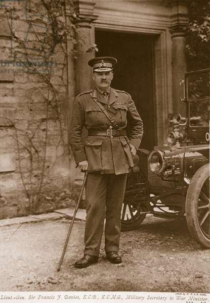 Lieut-General Sir Francis J. Davies, 1914-19 (litho)
