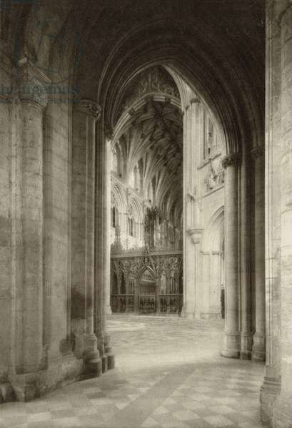 View of the Choir from the South Aisle at Ely Cathedral (b/w photo)