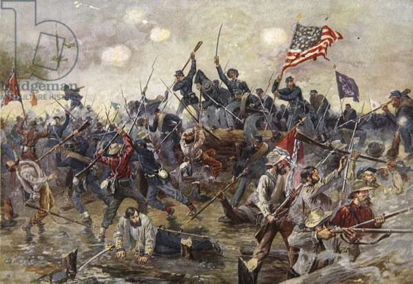 The Battle of Spotsylvania, May 8-21 1864 (colour litho)